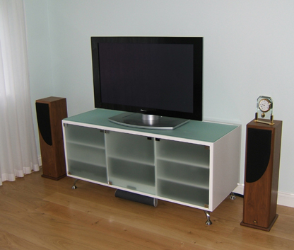 Assembled and installed CD rack
