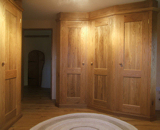 Fully Fitted, painted wardrobe and cupboards