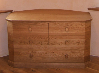 View of front of chest of drawers