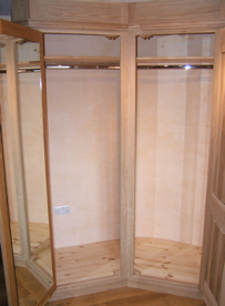 Wardrobe installed prior to finish being applied on-site