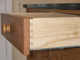 Hidden self close drawer slides and dovetailed joints